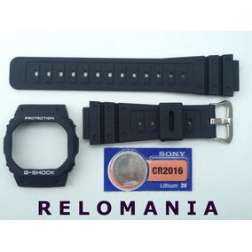 f289da23d75 Capa + Pulseira + Bateria Casio G-shock Dw-5600 Prata Rosca