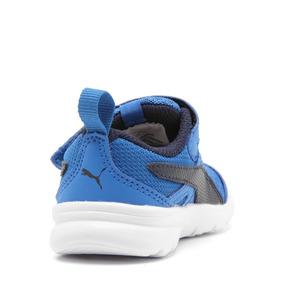 83cba45a3e3 Tênis Puma Flex Essential Azul Masculino Infantil