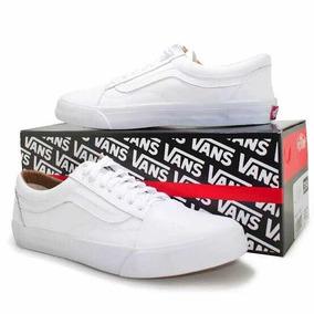 Tênis Vans Old Skool True White Todo Branco + Frete Grátis