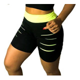 Kit 6 Pçs Short + Top D Brinde Malhar Levanta Bumbum Fitness