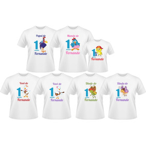 Kit Camiseta Personalizada Galinha Pintadinha 7 Peças 63066c7683c5c