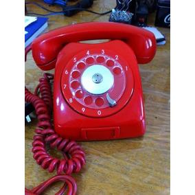 Telefone Vermelho De Mesa Antigo