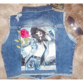 Colete Feminino Jeans Desfiado Revanche e8804196a54b3
