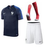 Uniforme Completo Francia Local 2018 - Camiseta Short Medias