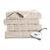 Sunbeam Heated Fleece Electric Blanket, Twin Size, 10 Hour
