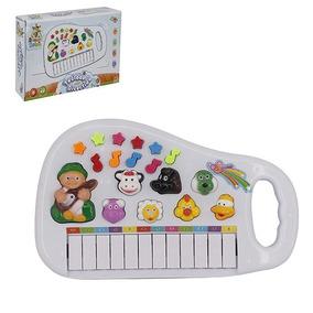 Teclado Piano Musical Infantil Baby Fazendinha Com Luz A Pil