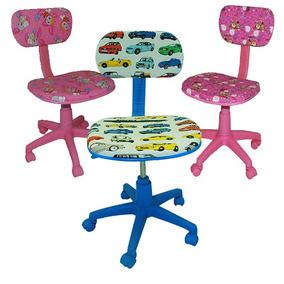 Cadeira Infantil Escritório Giratoria Umobili Estudo Kids