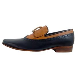 Oferta Buen Fin Zapatos Christian Gallery / Piel / Azul