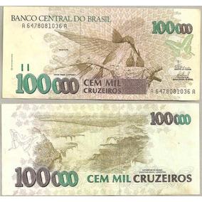 Nota Dinheiro Antigo Cédula 100 Cruzeiros Reais 1993 - C-227
