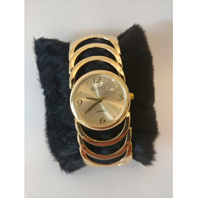 Relógio Feminino Analógico Gucipulseira Dourada