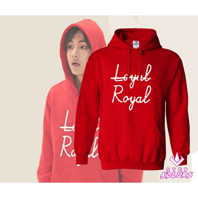 Polerón Canguro Bts Royal Loyal Negro Rojo