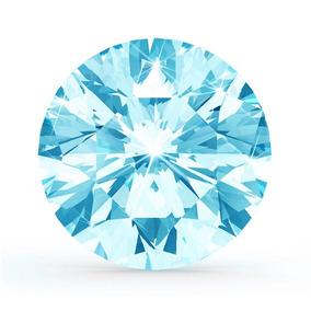 Moissanita Azul Mas Brillante Que El Diamante 0.26 Ct 4.00mm