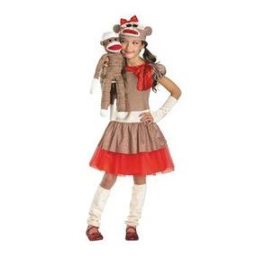 Disfraz De Chango Mono Chimpance Sock Monkey Para Niñas 1 12183e8d867