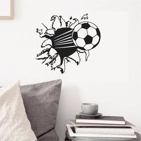 Adesivo Parede Quarto Futebol Bola Gol Esporte Chuteira 7597431221051