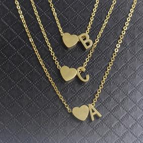 Collar Letra Y Corazón Novios Parejas Acero + Envío Gratis