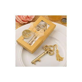 72 Gold Vintage Skeleton Key Abrebotellas Favores De La Boda