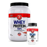 Whey Protein Usa 100% 907 Gramas + Brinde Bcaa Vit Midway