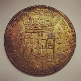 Moeda 1699 Brasil 4000 Reis-pedro Ii