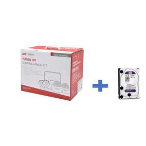 Sistema Cctv Hikvision 720p Hik720kit4 + Hdd 1 Tb Wester