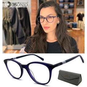 Oculos De Grau Azul Marinho Com Detalhes - Óculos no Mercado Livre ... 8aa716e847