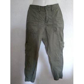 Pantalón Verde Olivo Tipo Militar Talla 9 Méx / 10 Usa.