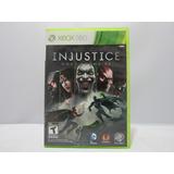 Injustice Gods Among Us - Xbox 360 ¡fisico-usado!