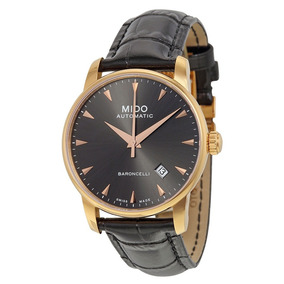 0686012650d Relógio Mido Baroncelli M8600.3.13.4 Automatico 38mm Dourado. R  4.789