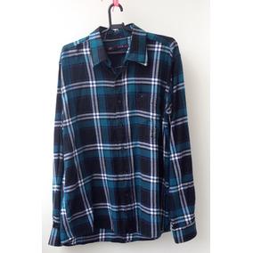 14ea14430c Camisa Masculina Xadrez Azul g casual  Moda 2018  Algodão
