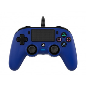Controle Playstation 4 Azul Compacto Nacon Wired Manete Ps4
