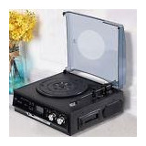 3speed Rca Output Usb/sd Slot Stereo Turntable Record Player