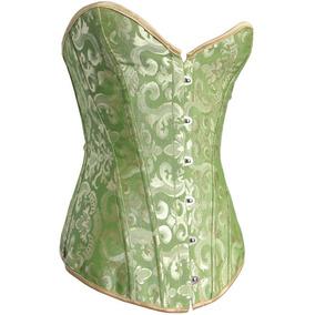 Sexy Corset Verde Lencería Fina Estiliza Co302