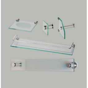 Kit Acessórios P/ Banheiro 5 Peças Em Vidro