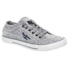 Tenis Pepe Jeans Casual Ford Mujer Gris Dtt 00256