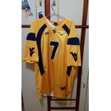 Camisa De Futebol Americano Ncaa West Virginia