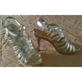 e65c3fe4 Tacones Lasonia Plateado - Zapatos Mujer en Mercado Libre Venezuela