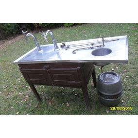 Antigua Chopera Bar Boliche 2 Pilones Bacha Agua Barril