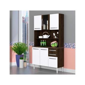 c13707a897c Cozinha Compacta 6 Portas Clarice Ravello branco - Lc Móveis