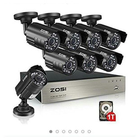 Sistema Seguridad Marca Zosi 8 Canals, 960 Hdmi, Dvr, Hd 1tb