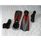 Nadadeira De Mergulho Tri-ex - Tusa E Bota De Neoprene 3,5mm