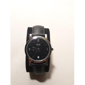 Relógio Hugo Boss Original Couro Preto