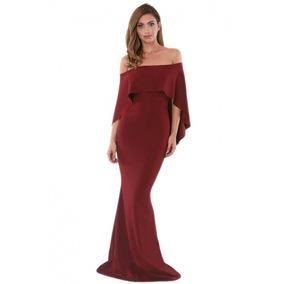 Vestido Largo, Manga Corta, Casual, Noche, Elegante