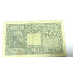 Cedula 10 Liras Italiana
