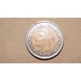 Moeda Belíssima De Dois Euros Da Irlanda