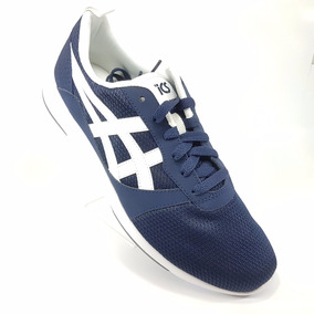 Tenis Asics Lyte Jogger H7g1n Azul Blanco