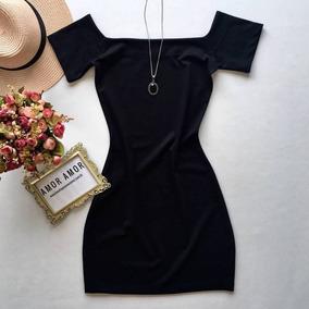 Vestido Listrado Feminino Ombro A Ombro Justo Blogueira Moda