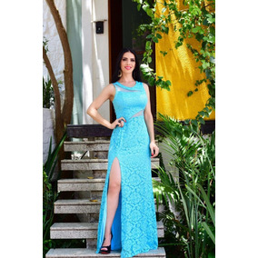 7c5ae21f6 Vestido Longo De Festa Rapanui - Vestidos Longos Femininas Azul ...