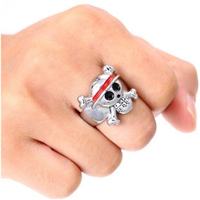 Anillo One Piece Envio Gratis Luffy Monkey D Calavera Skull