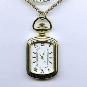 Reloj De Bolsillo Acero Inoxidable Vintage Dorado Manecillas
