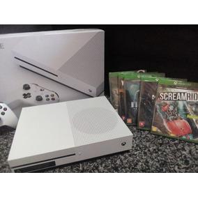 Xbox One S 1tb Original + 5 Jogos Lacrados