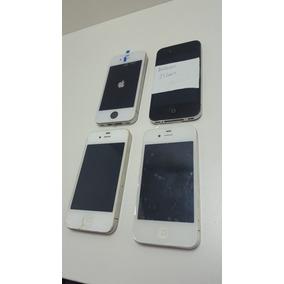 4 Iphones Para Conserto Ou Retir Peças